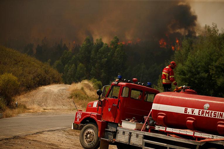 Лесные пожары в Португалии.