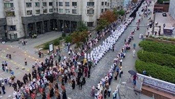 Молебен УПЦ МП на Владимирской горке и крестний ход к Киево-Печерской лавре