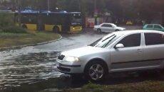 Потоп в Киеве после ливня