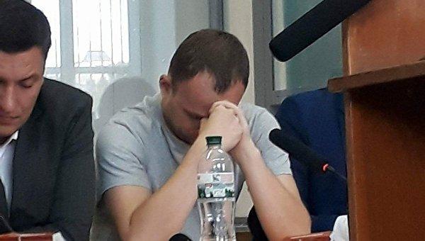 Экс-чиновник ГПУ Дмитрий Сус в зале суда