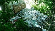 Во Львове под детской больницей выгрузили 5 тонн отходов