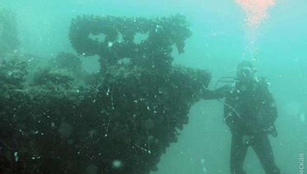 Надне Черного моря отыскали  затонувшее воВторую мировую немецкое судно