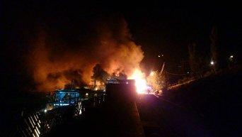 Появились кадры пожара в ночном клубе Одессы. Видео