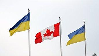 Флаги Канады и Украины