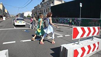 Контрактовая площадь и участок улицы Сагайдачного стали пешеходной зоной