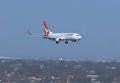 Появились кадры посадки самолета в Австралии при ветре в 100 км/ч. Видео