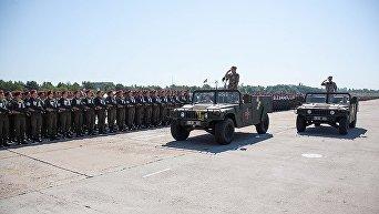 Нацгвардия провела репетицию парада ко Дню Независимости Украины.