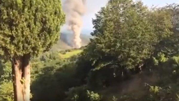 Взрыв боеприпасов в Абхазии