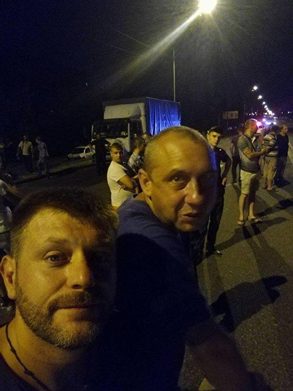 Блокирование проезда на Харьковском шоссе в Киеве