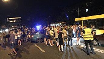 Блокирование Харьковского шоссе в Киеве
