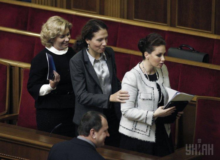 Ирина Бережная с коллегами в Верховной Раде