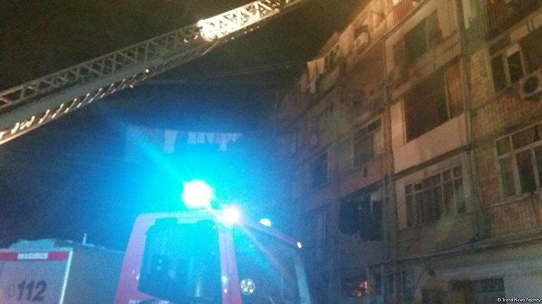 На месте взрыва в Азербайджане