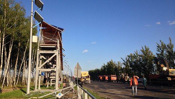 1026506612 Дорога М 7 перекрыта из за обрушения моста воВладимирской области