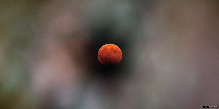 Лунное затмение в Одессе