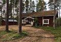 Охотничий домик, где жили мигранты из Украины