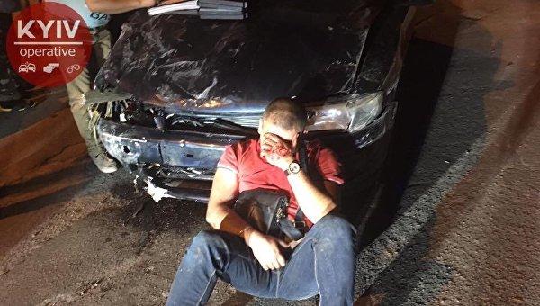 Нетрезвый  безработный шофёр  совершил завечер 4  ДТП вКиеве