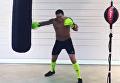 Бокс по-украински. Усик размялся на мешке перед боем. Видео