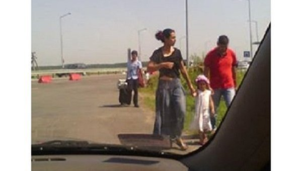 Цыгане пытались пройти границу с криками без виз