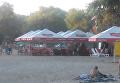 Стрельба на полтавском пляже. Видео