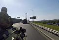 По улицам Киеве проехала военная техника. Видео