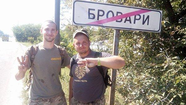 Семенихин (справа) выходит из Броваров