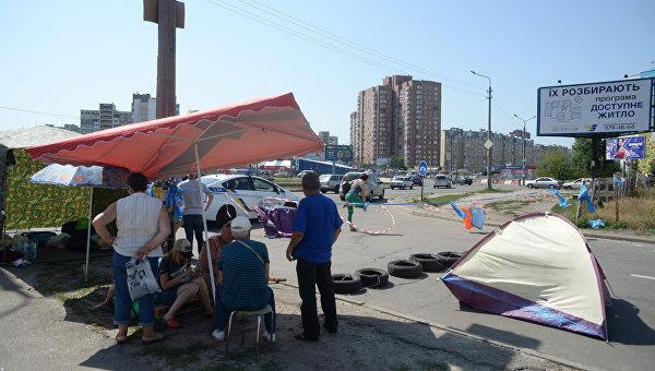 Акция протеста против строительства АЗС на ул. Ревуцкого