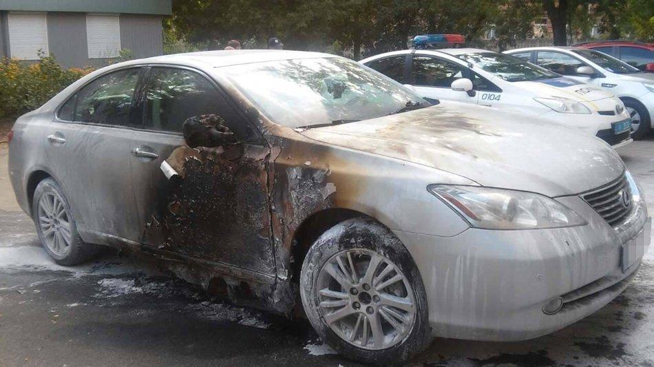 Полиция Харьковской областиВ Харькове сожгли автомобиль