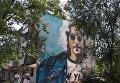 Мурал с Джоном Ленноном нарисовали на центральной площади Изюма