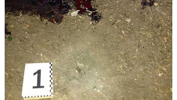 Ночью вКиеве на личном  дворе раздался взрыв