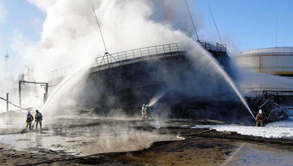 Ликвидация пожара на Приразломном нефтяном месторождении в ХМАО