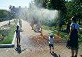 Охлаждающие рамки для киевлян в жару