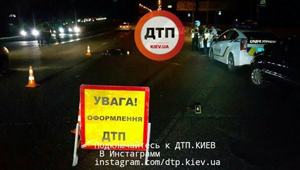 ДТП вКиеве: пешехода-нарушителя два раза сбили