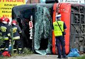 В Польше перевернулся автобус