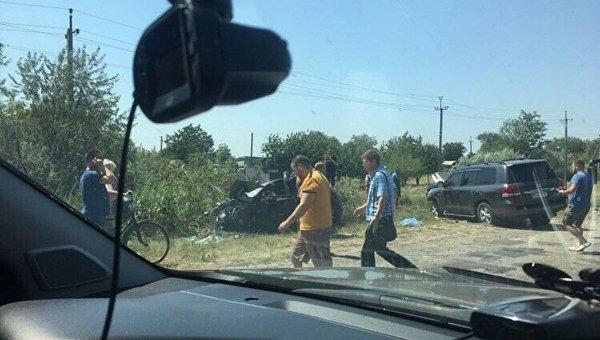 Столкновение авто в Херсонской области
