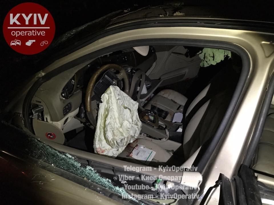 Жуткое ДТП под Киевом: авто севрономерами въехало вдерево