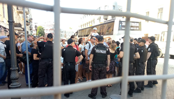 Радикалы сорвали ЛГБТ-парад в Одессе