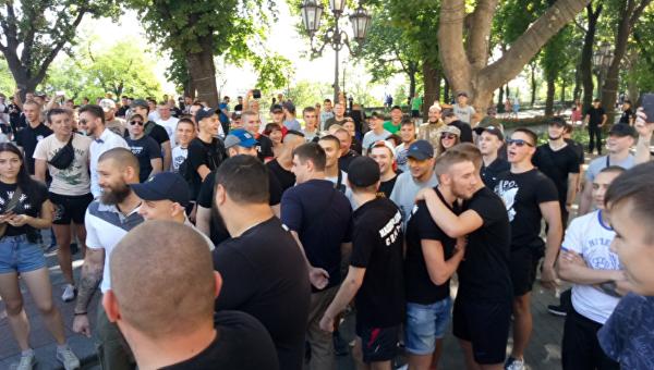 Как радикалы сорвали гей-парад в Одессе: появилось видео