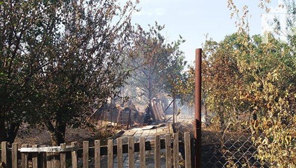 Пожар в Бердянске