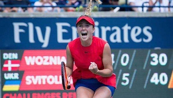 Украинка Элина Свитолина после победы на турнире в Торонто