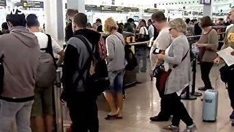 В аэропорту Барселоны началась забастовка