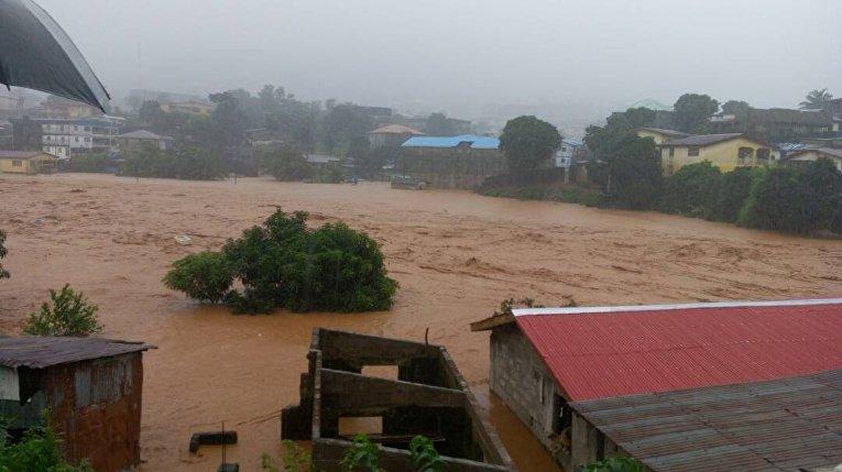 Наводнение и оползень в Сьерра-Леоне