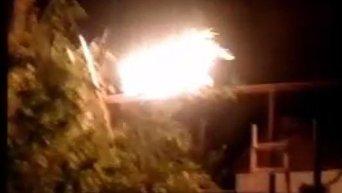 В Донбассе после обстрела загорелся газопровод