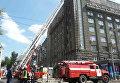 Пожар в жилом доме в Харькове
