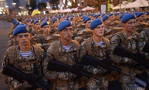 Репетиция военного парада ко Дню Независимости Украины в Киеве