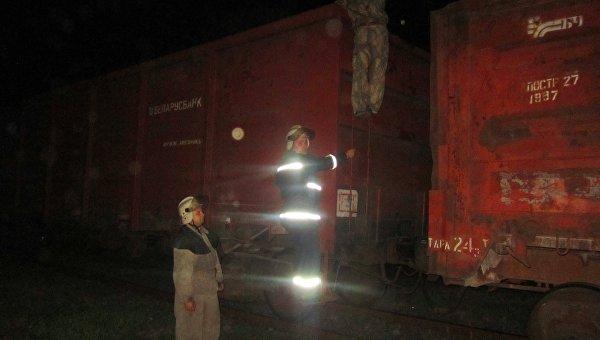 Пожар в вагонах поезда