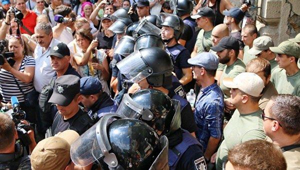 Противостояние националистов в центре Одессы, 17 августа 2017
