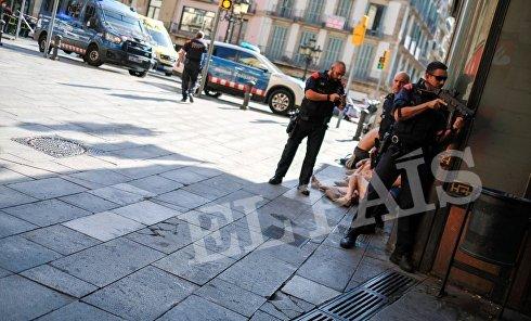 Полиция в Барселоне после теракта