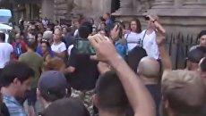 Протесты в Барселоне после терактов