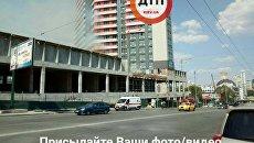 В центре Киева горит новострой
