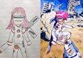 Отец превращает рисунки сыновей в удивительные аниме